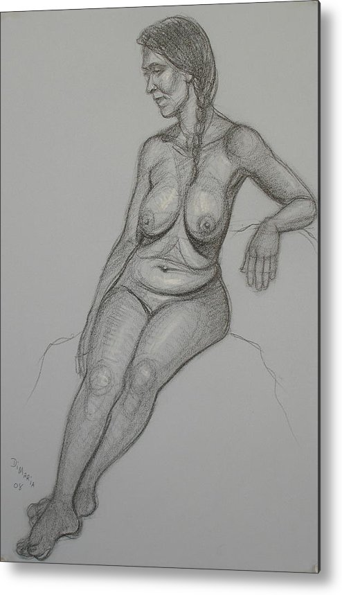Realism Metal Print featuring the drawing Loma 1 by Donelli DiMaria