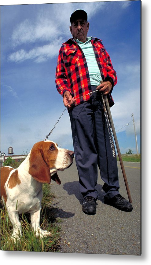 Dog Metal Print featuring the photograph Man's Best Friend by Carl Purcell