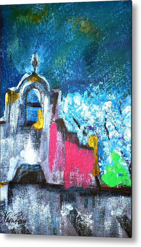 Churches Metal Print featuring the painting Mission Of The Spirit by Neva Rossi