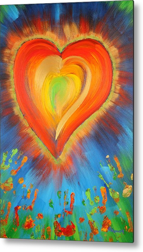 Heart Metal Print featuring the painting New Heart by Gary Rowell