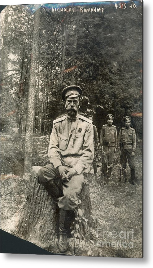 1917 Metal Print featuring the photograph Nicholas II (1868-1918) by Granger