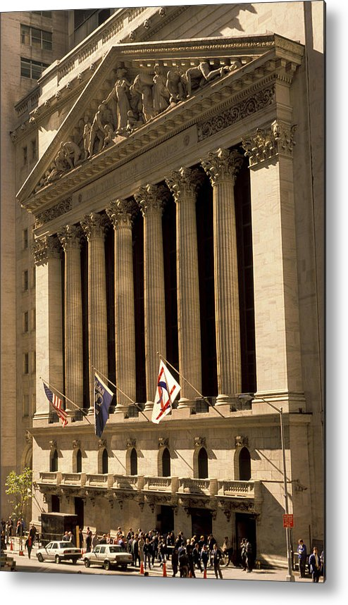 Wall St. Metal Print featuring the photograph Ny Stock Exchange by Gerard Fritz