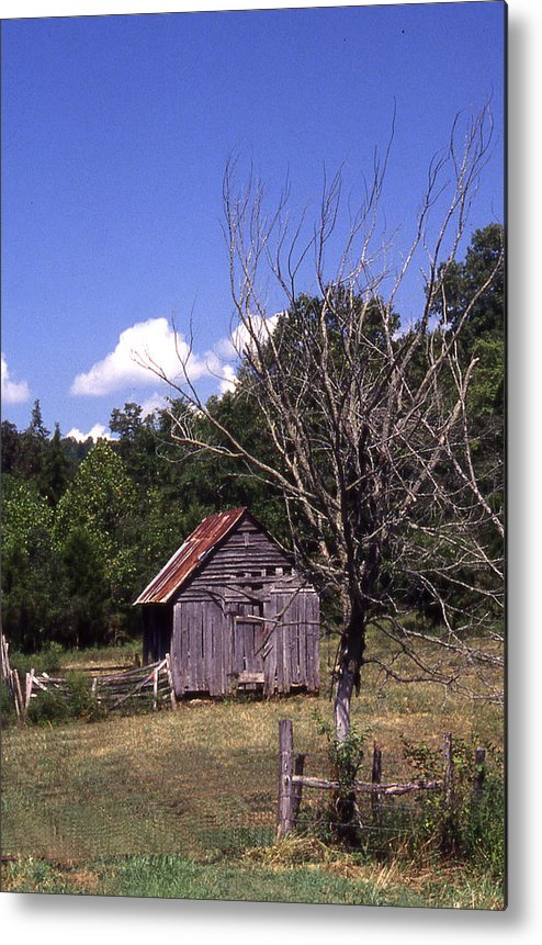 Metal Print featuring the photograph Old Shack by Curtis J Neeley Jr