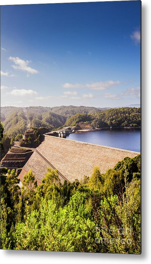 Dam Metal Print featuring the photograph Picturesque Hydroelectric Dam by Jorgo Photography - Wall Art Gallery