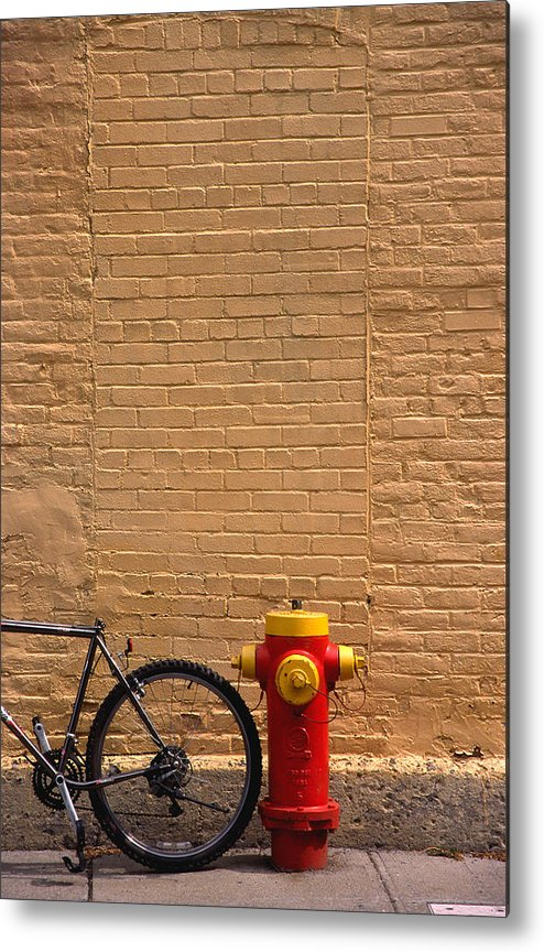 Bicycle Metal Print featuring the photograph Quebec Hydrant by Art Ferrier