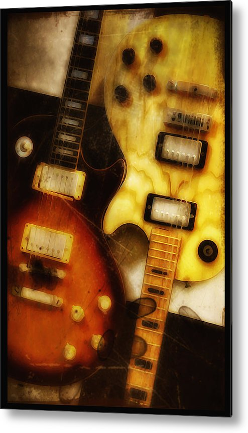 Les Paul Metal Print featuring the photograph Rock And Roll Never Forgets by Bill Cannon