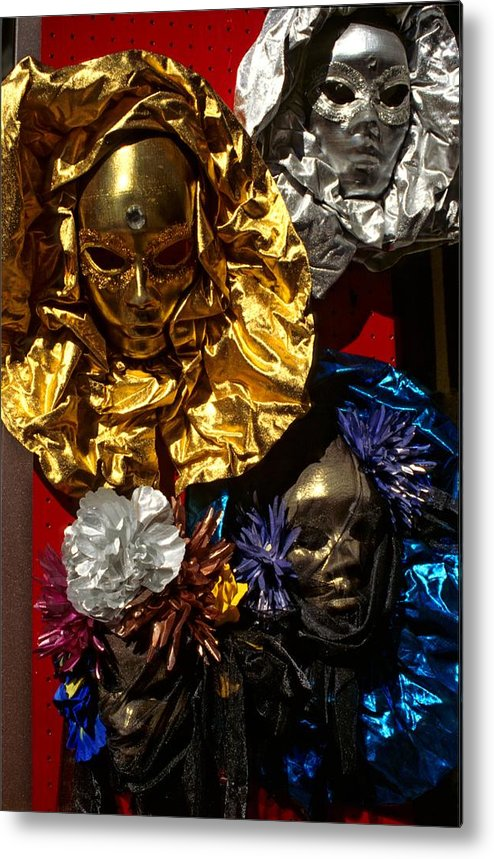 Venice Metal Print featuring the photograph Shiny Masks In Venice by Michael Henderson