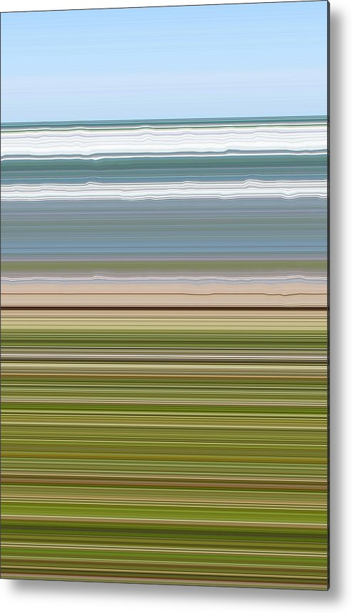 Lake Metal Print featuring the digital art Sky Water Earth Grass by Michelle Calkins