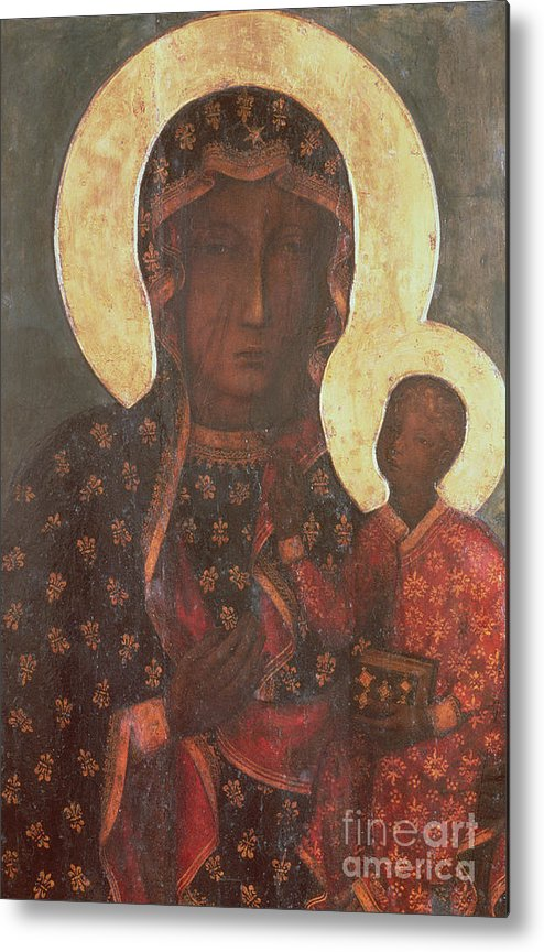 The Metal Print featuring the painting The Black Madonna Of Jasna Gora by Russian School