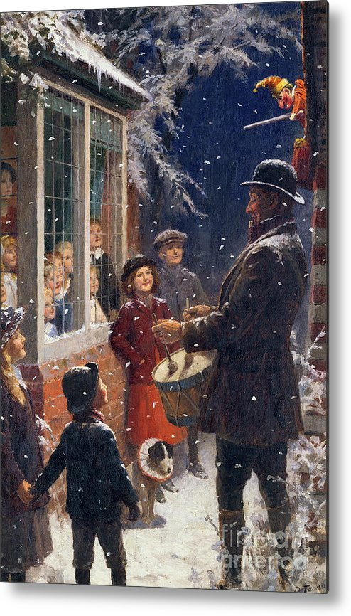 The Metal Print featuring the painting The Entertainer by Percy Tarrant