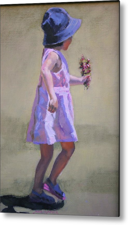 Figure Metal Print featuring the painting The Gift by Jane Grover