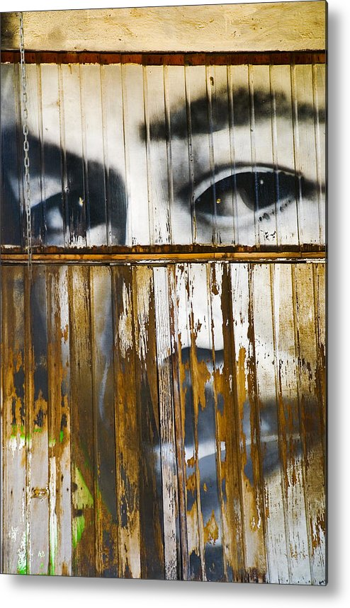 Escondido Metal Print featuring the photograph The Walls Have Eyes by Skip Hunt