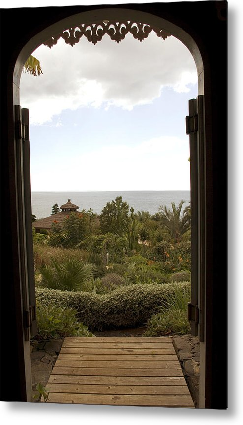 Doorway Metal Print featuring the photograph View From The Shed by Alan Pickersgill