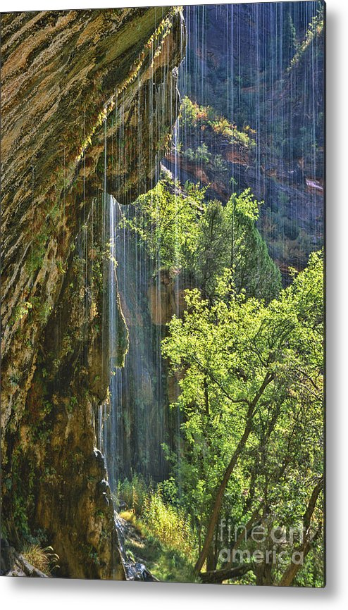 Southwest Metal Print featuring the photograph Weeping Rock - Zion Canyon by Sandra Bronstein