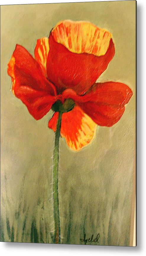 Flower Metal Print featuring the painting Wildflower 2 by Ixchel Amor
