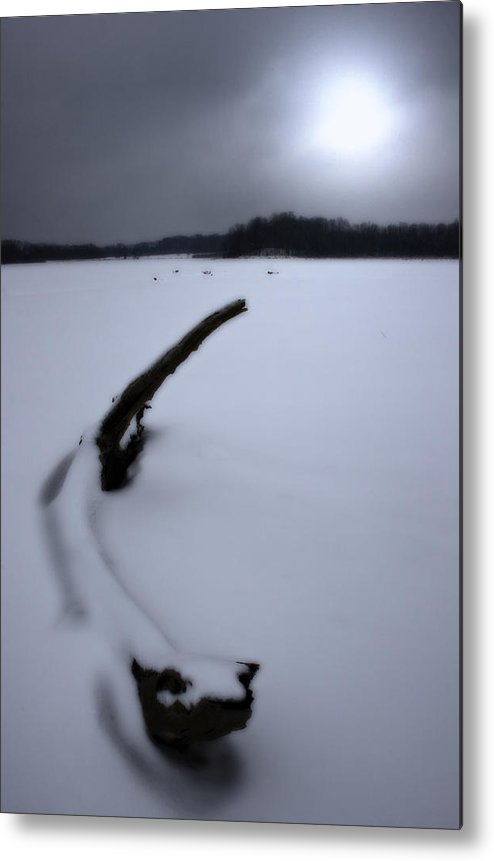 Winter Metal Print featuring the photograph Winter Moonrise by Kenneth Krolikowski