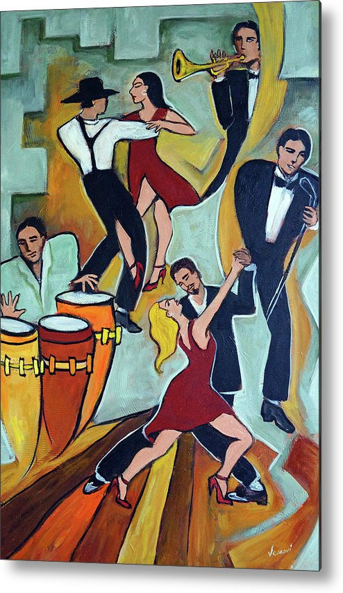 Tango Metal Print featuring the painting Tango Terroso 1 by Valerie Vescovi