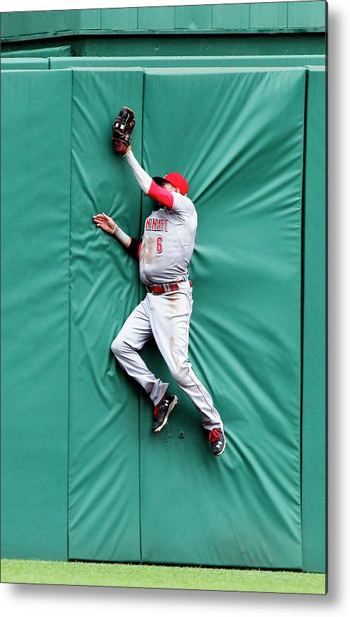 Toughness Metal Print featuring the photograph Billy Hamilton And Travis Snider by Justin K. Aller