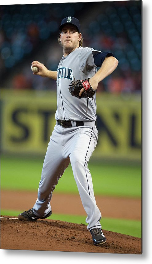 American League Baseball Metal Print featuring the photograph Brandon Maurer by Bob Levey