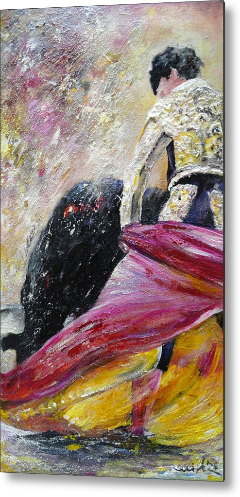 Animals Metal Print featuring the painting Romance by Miki De Goodaboom