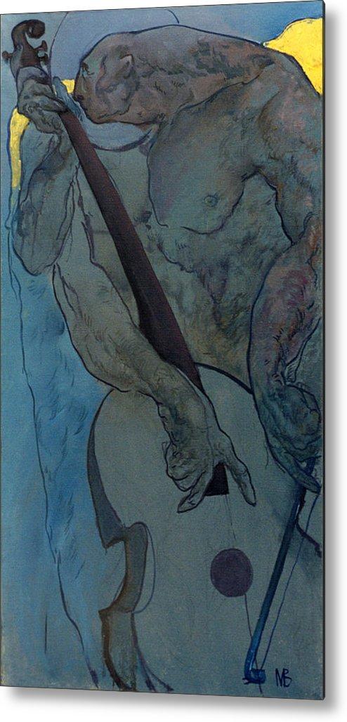 Nude Metal Print featuring the painting Jan 2 by Valeriy Mavlo