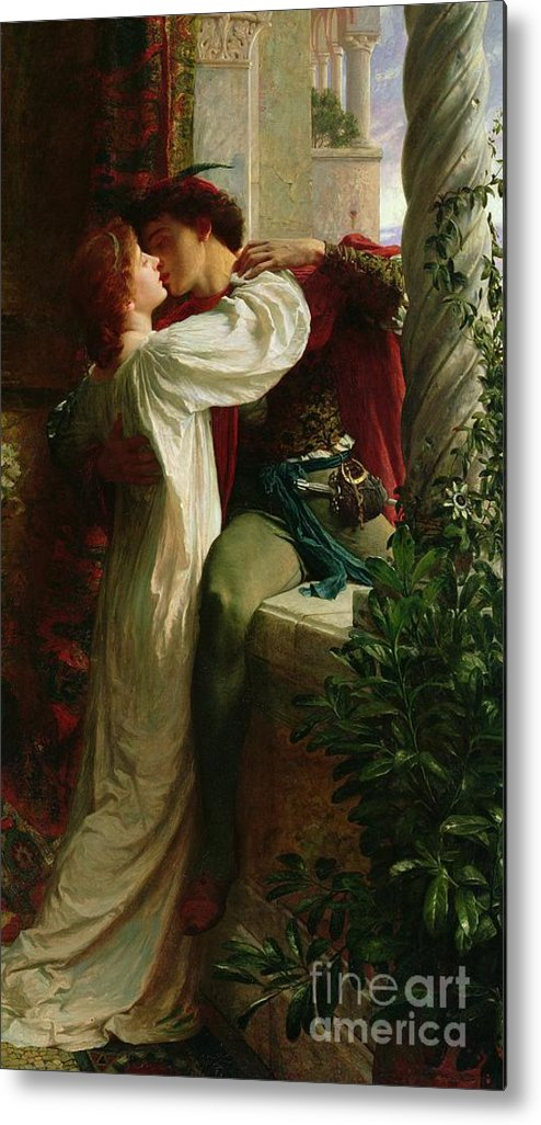 Romeo And Juliet Metal Print featuring the painting Romeo And Juliet by Sir Frank Dicksee