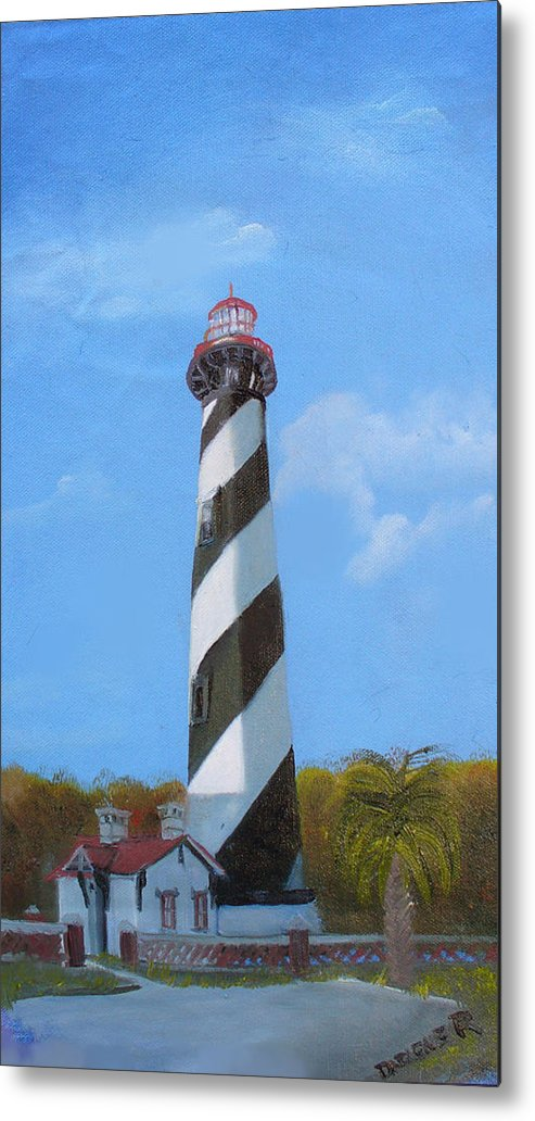 Lighthouse Metal Print featuring the painting St Augusstine Lighthouse by Darlene Green
