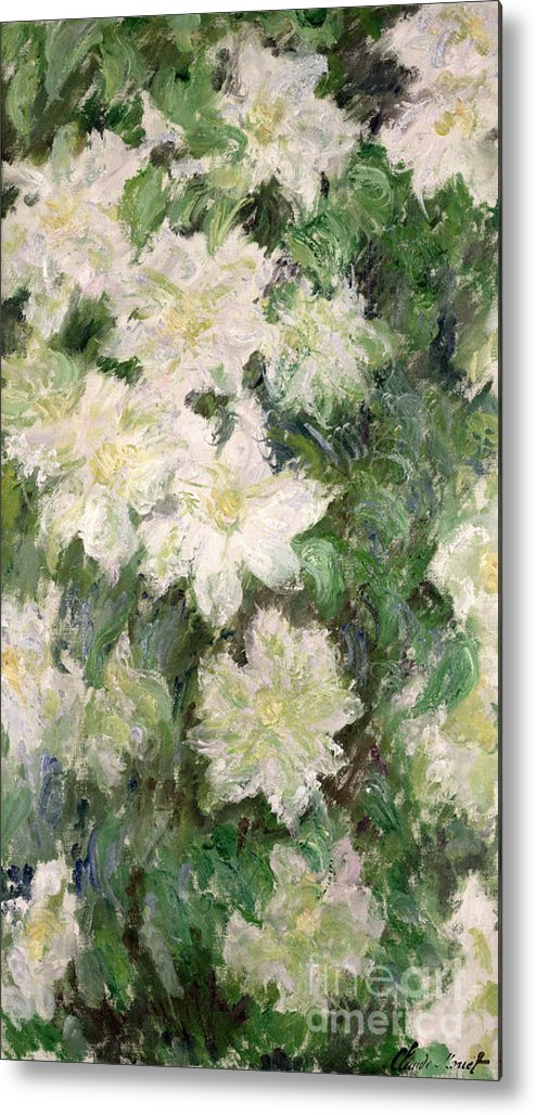 White Clematis Metal Print featuring the painting White Clematis by Claude Monet