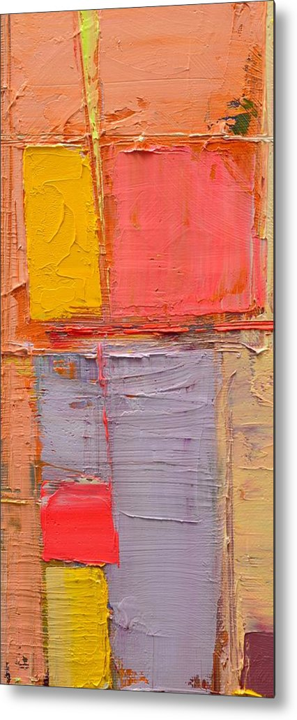 Abstract Metal Print featuring the painting Messages 1 by Ana Maria Edulescu