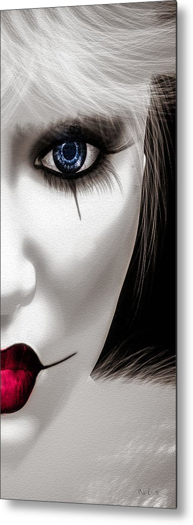 Harlequin Metal Print featuring the painting Eyes Of The Fool by Bob Orsillo