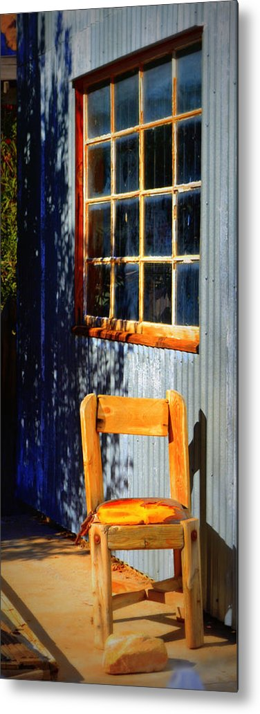 Chair Metal Print featuring the photograph Sit A Minute by Diane montana Jansson