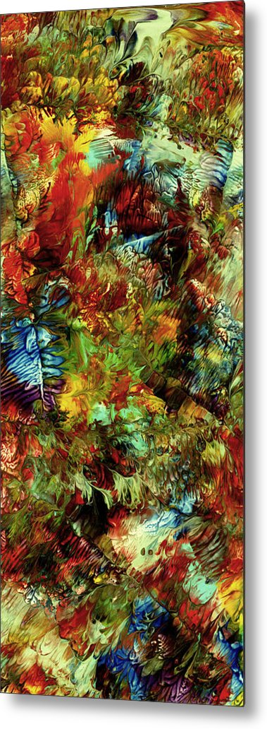 Abstract Art Print Metal Print featuring the painting Cc110 by John Kohn