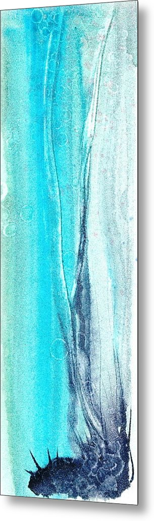 Abstract Watercolors Metal Print featuring the painting Origins Of Spring by Sheba Goldstein