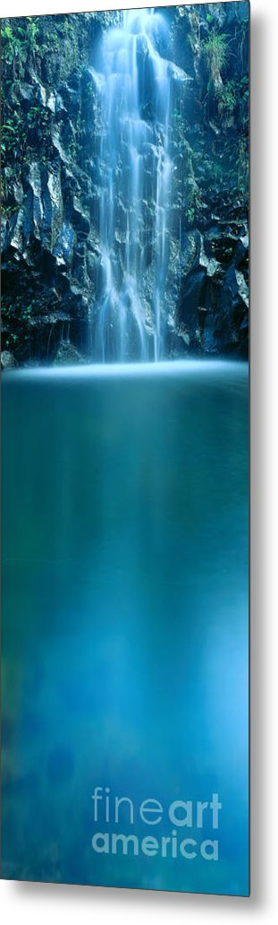 Active Metal Print featuring the photograph Falls Pool by Carl Shaneff - Printscapes