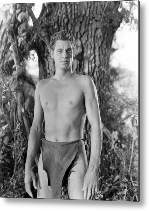 1930s Movies Metal Print featuring the photograph Tarzan The Ape Man, Johnny Weissmuller by Everett