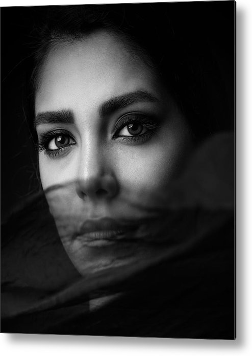 Portrait Metal Print featuring the photograph Untitled by Mehdi Mokhtari