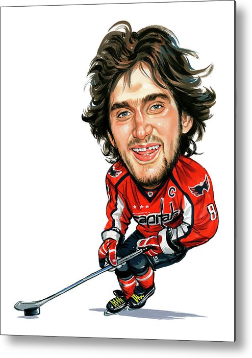 Alexander Ovechkin Metal Print featuring the painting Alexander Ovechkin by Art