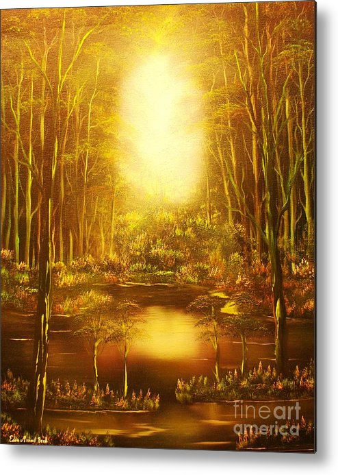Landscape Metal Print featuring the painting Blinding Light-original Sold-buy Giclee Print Nr 36 Of Limited Edition Of 40 Prints  by Eddie Michael Beck