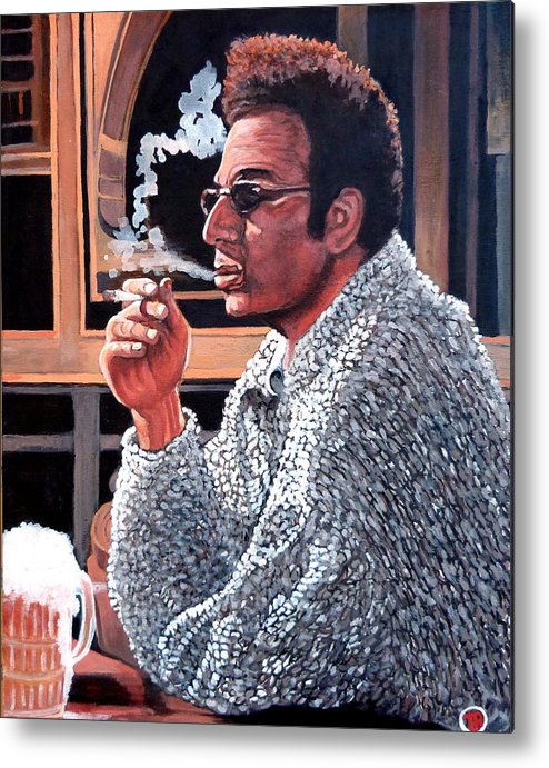 Kramer Metal Print featuring the painting Cosmo Kramer by Tom Roderick