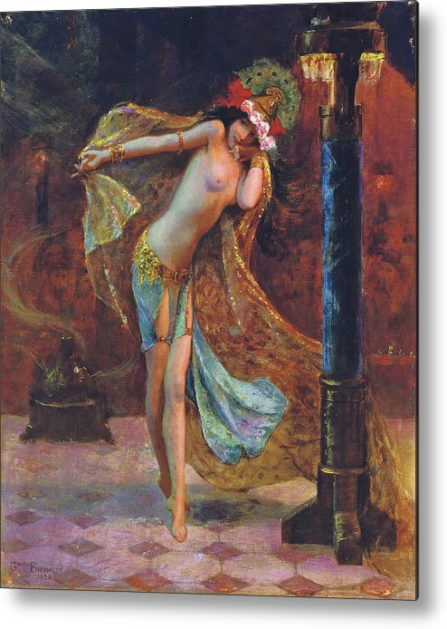 Gaston Bussiere Metal Print featuring the digital art Dance Of The Veils by Gaston Bussiere