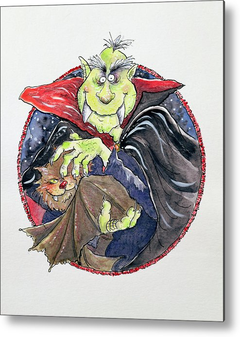 Dracula Metal Print featuring the painting Dracula by Maylee Christie