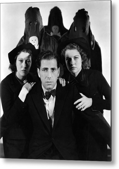 Humphrey Bogard Metal Print featuring the photograph Humphrey Bogart In The Black Legion 1937 by Mountain Dreams