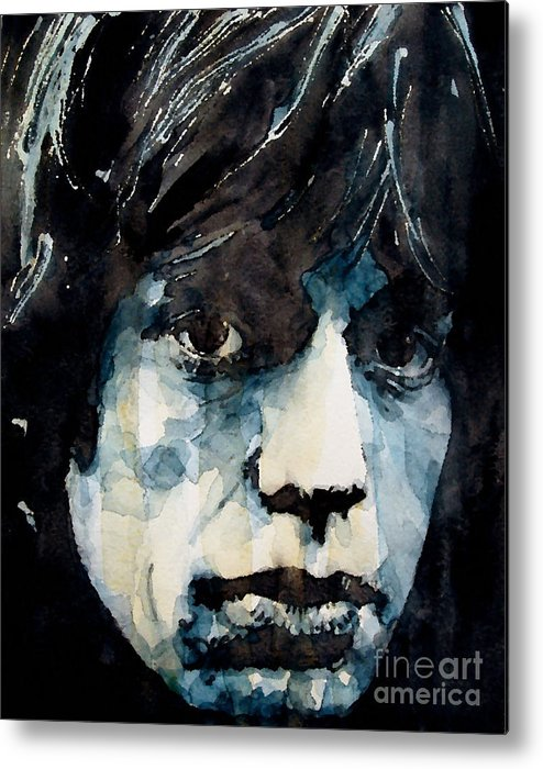 Mick Jagger Metal Print featuring the painting Jagger No3 by Paul Lovering