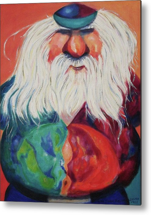 Old Man Metal Print featuring the painting Let's Boogey by Suzanne Marie Leclair