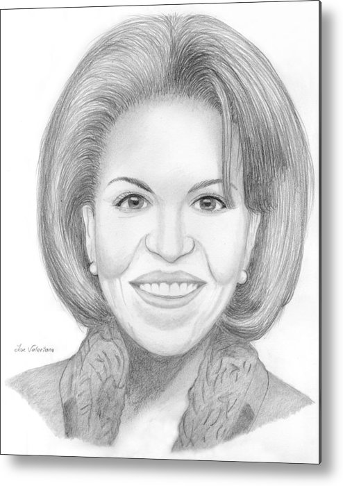 Michelle Obama Metal Print featuring the drawing Michelle Obama by M Valeriano