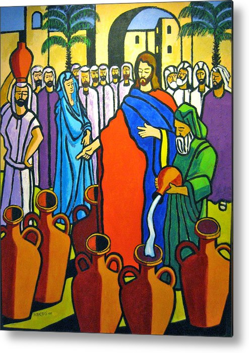 Religious Metal Print featuring the painting Miracle At Cana by Nicholas Martori