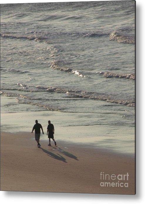 Myrtle Beach Metal Print featuring the photograph Myrtle Beach Walking Buddies by Gail Matthews