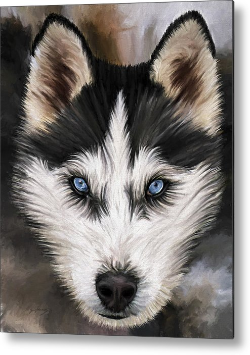 Dog Art Metal Print featuring the painting Nikki by David Wagner