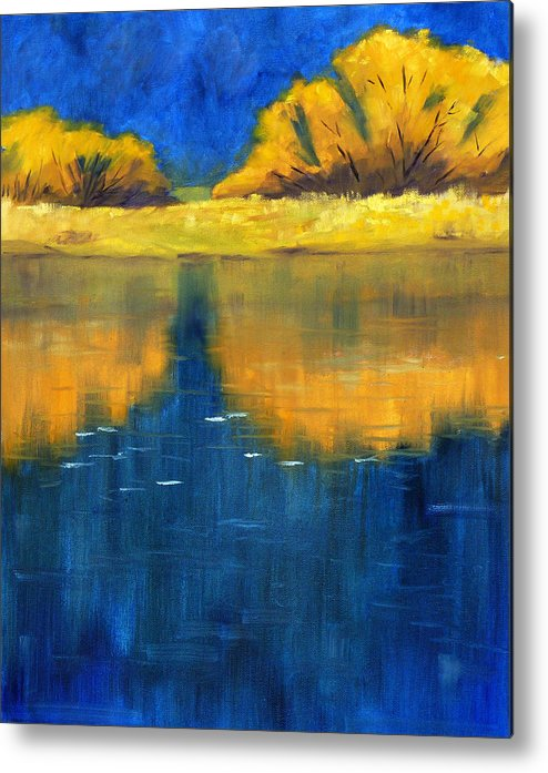 Nisqually River Metal Print featuring the painting Nisqually Reflection by Nancy Merkle