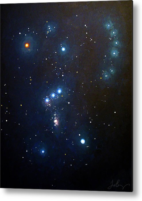 Constellation Metal Print featuring the painting Orion The Hunter by Timothy Benz